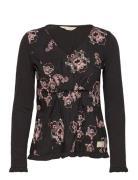 Malvina L/S Top Langärmliges T-Shirt Schwarz ODD MOLLY