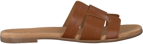 Cognacfarbene Omoda Pantolette 179874